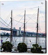 Tall Ship Gazela At Penns Landing Acrylic Print by Bill Cannon