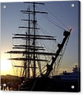 Tall Ship In Ibiza Town Acrylic Print