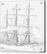 Tall Ship In Lead Acrylic Print