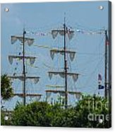 Tall Ship Mast Charleston  Acrylic Print