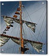 Tall Ship Mast Acrylic Print by Suzanne Gaff