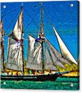 Tall Ship Paint  Acrylic Print