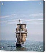 Tall Ship Sailing Acrylic Print by Dale Kincaid