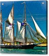 Tall Ship Vignette Acrylic Print by Steve Harrington
