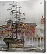 Tall Ship Waterfront Acrylic Print
