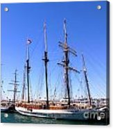 Tall Ships Big Bay Acrylic Print