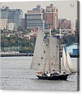 Tall Ships In The Harbor Acrylic Print