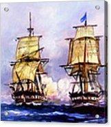 Tall Ships Uss Essex Captures Hms Alert  Acrylic Print