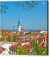 Tallinn From Plaza In Upper Old Town-estonia Acrylic Print