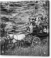 Tallyho Stagecoach Party C. 1889 Acrylic Print by Daniel Hagerman