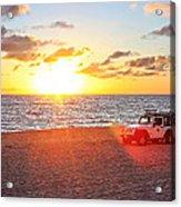 Tamarack At Sunset Acrylic Print