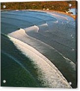 Tamarin Bay Surf Going Off Acrylic Print