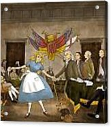 Tammy In Independence Hall Acrylic Print by Reynold Jay