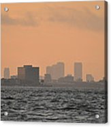 Tampa At Sunrise Acrylic Print