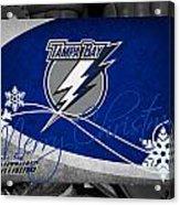 Tampa Bay Lightning Christmas Acrylic Print