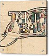 Tampa Bay Rays Poster Art Acrylic Print