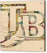 Tampa Bay Rays Poster Vintage Acrylic Print