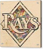 Tampa Bay Rays Vintage Art Acrylic Print