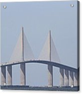 Tampa Sky Way Bridge Acrylic Print