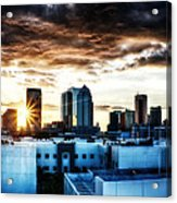Tampa Skyline At Sunset Hdr 1 Acrylic Print