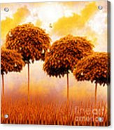 Tangerine Trees And Marmalade Skies Acrylic Print by Mo T