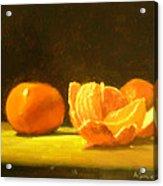 Tangerines Acrylic Print by Ann Simons