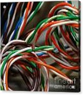 Tangle Of Colorful Wires Acrylic Print