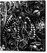 Tangled Baubles - Bw Acrylic Print