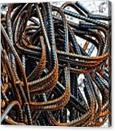 Tangled - Industrial Photography By Sharon Cummings Acrylic Print
