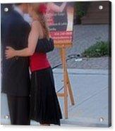 Tango Dancing On The Street Acrylic Print