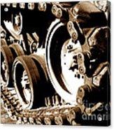Tank Tracks Acrylic Print