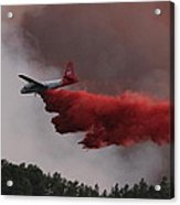 Tanker 07 Drops On The Myrtle Fire Acrylic Print