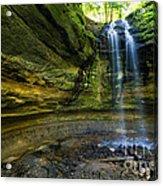 Tannery Falls Near Pictured Rocks National Lakeshore - Munising  Acrylic Print