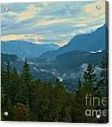 Tantalus Mountain Afternoon Landscape Acrylic Print