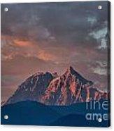 Tantalus Mountain Sunset - British Columbia Acrylic Print