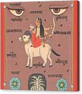Tantra Tantric Arwork Painting Yoga India Miniature Painting Drawing Portrait  Acrylic Print