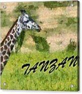 Tanzania Poster Acrylic Print