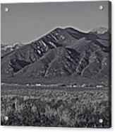Taos In Black And White II Acrylic Print