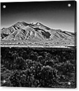 Taos In Black And White X Acrylic Print