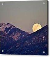 Taos Moonrise Acrylic Print