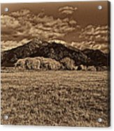Taos Mountain In Platinum  Acrylic Print