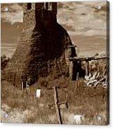 Taos Pueblo Graveyard Acrylic Print