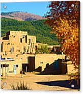 Taos Pueblo South In Autumn Acrylic Print