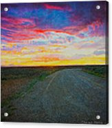 Taos Sunset On Rice Paper Acrylic Print