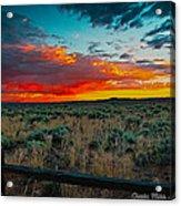 Taos Sunset Xi Acrylic Print