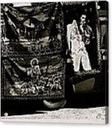 Tapestries Of  Elvis Presley  Hawai Concert Jesus Christ Sheep Horses Flags Armory Park Tucson Az Acrylic Print
