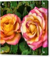 Tapestry - Roses And Thorns Acrylic Print