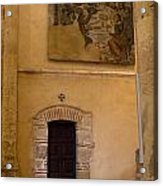 Tapestry Wall At Church Of The True Cross Acrylic Print