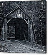 Tappan Covered Bridge Bw Acrylic Print