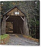 Tappan Covered Bridge Acrylic Print